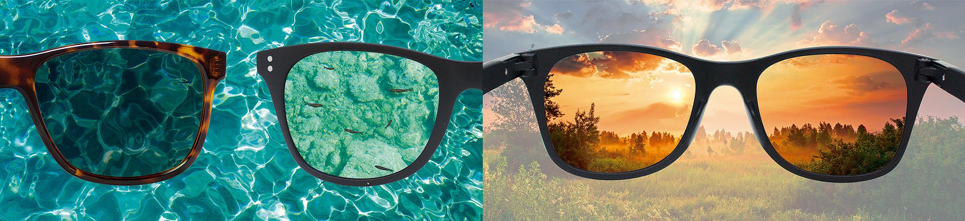 porównanie jasności i jakości obrazu w zwykłych okularach i okularach Polaryte Photochromic