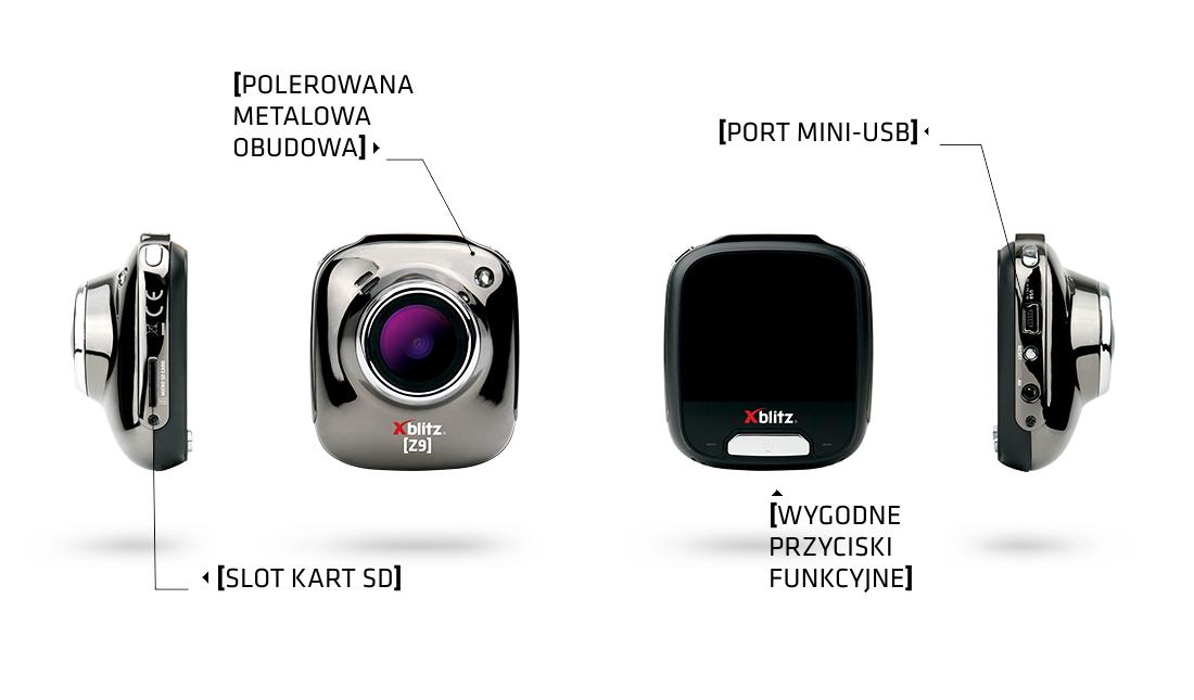 kamera samochodowa, wideorejestrator z9