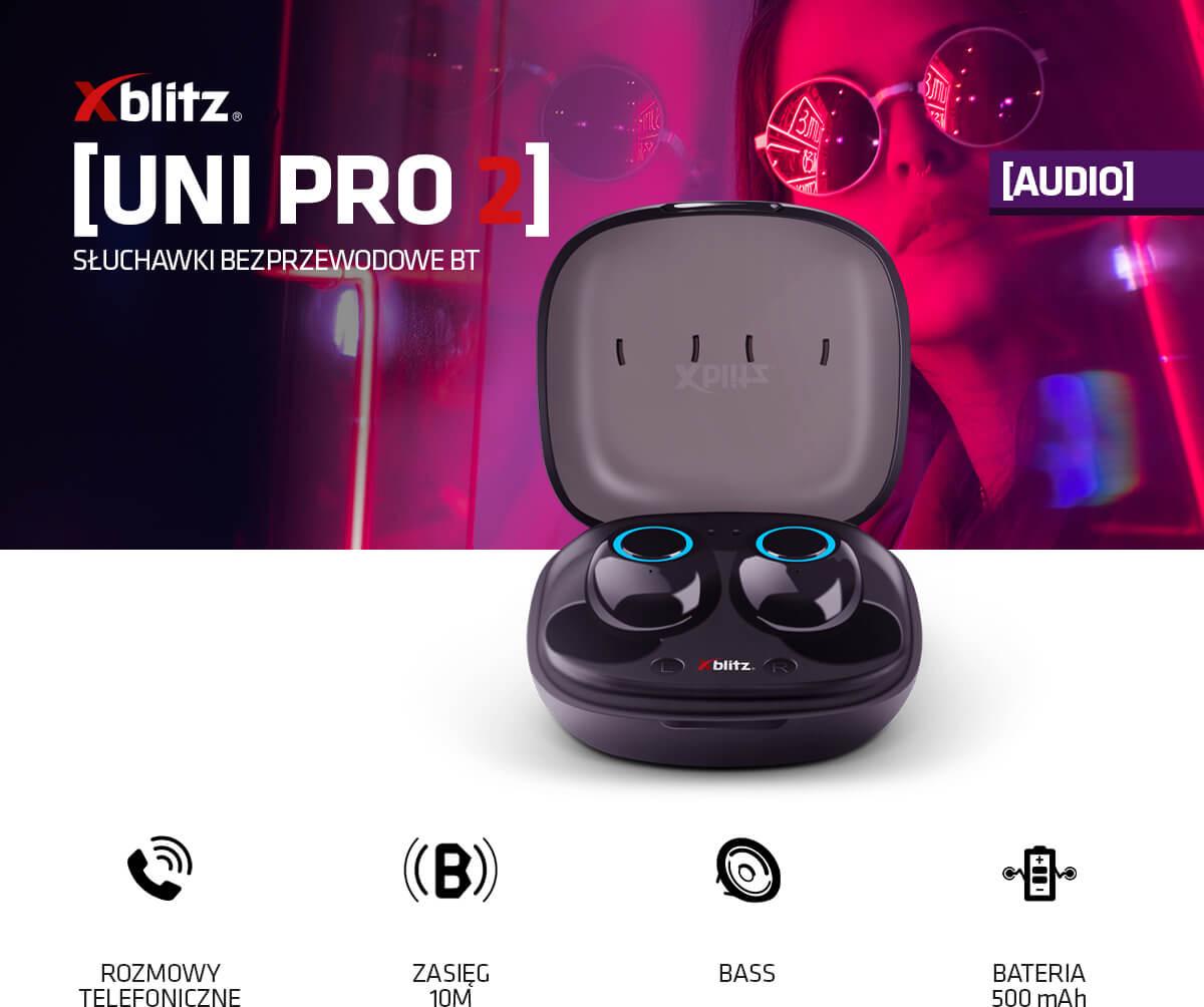 bezprzewodowe słuchawki douszne z mikrofonem UNI PRO 2