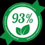93% naturalnych składników