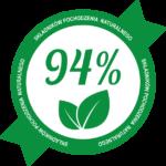 94% naturalnych składników
