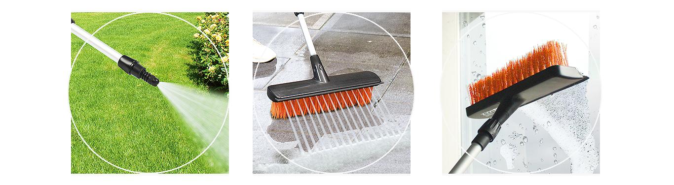 Myjka ciśnieniowa ze szczotką Water Zoom Max zastosowanie